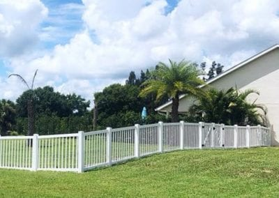 Vinyl Fence by Barnard Fencing Solutions