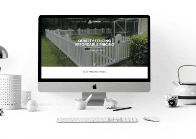 Barnard Fencing Solutions Website Desktop View