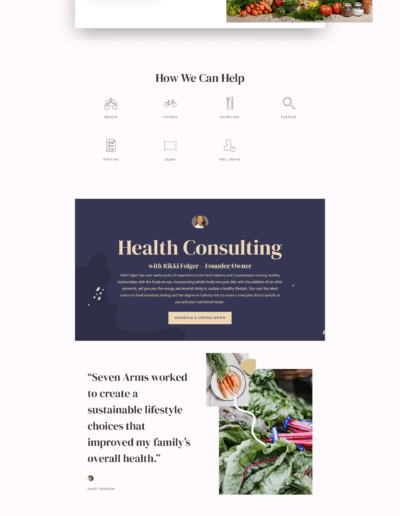 Seven Arms Health Full Website